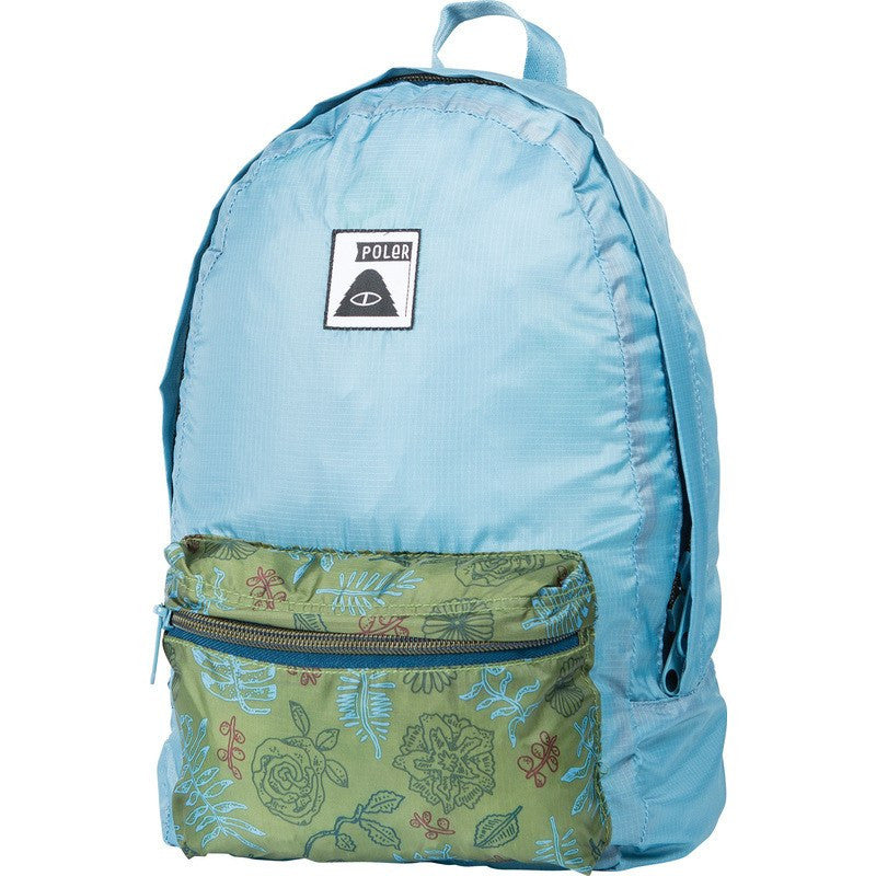 Poler Stuffable Pack Backpack | Brotanical Mossy/ TRUE Blue 532013-PBO