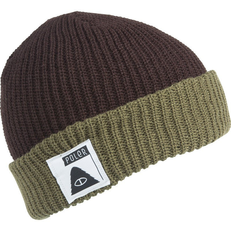 Poler Trail Boss Beanie | Dark Brown/Army Green 535003-BRN