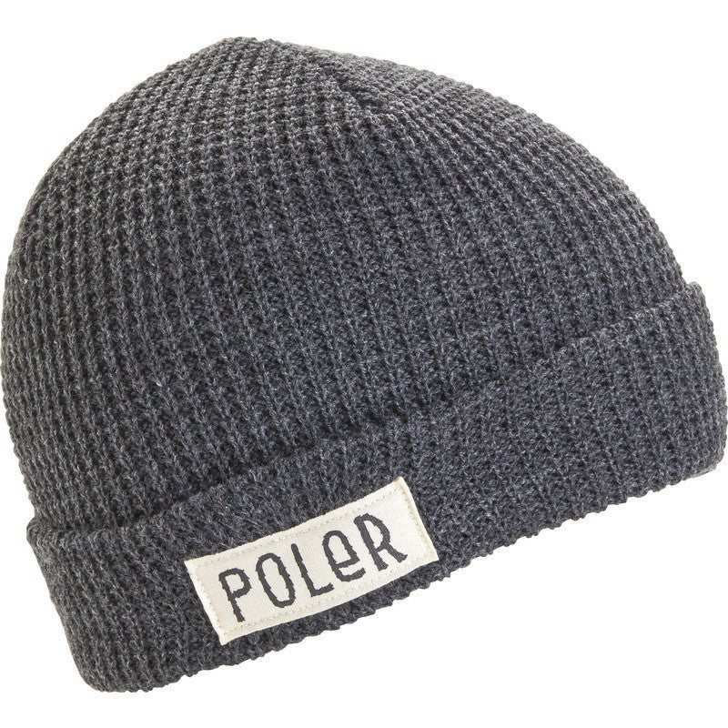 Poler Holiday Workerman Beanie | Charcoal Heather 535006-GRY