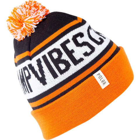 Poler Gas Station Beanie | Athletic Orange/Black/White 535029-ORG