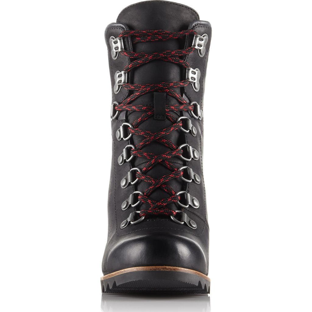 Sorel  Women's Conquest Wedge Waterproof Snow Boot | Black/Dk Grey Size 7 1691961010
