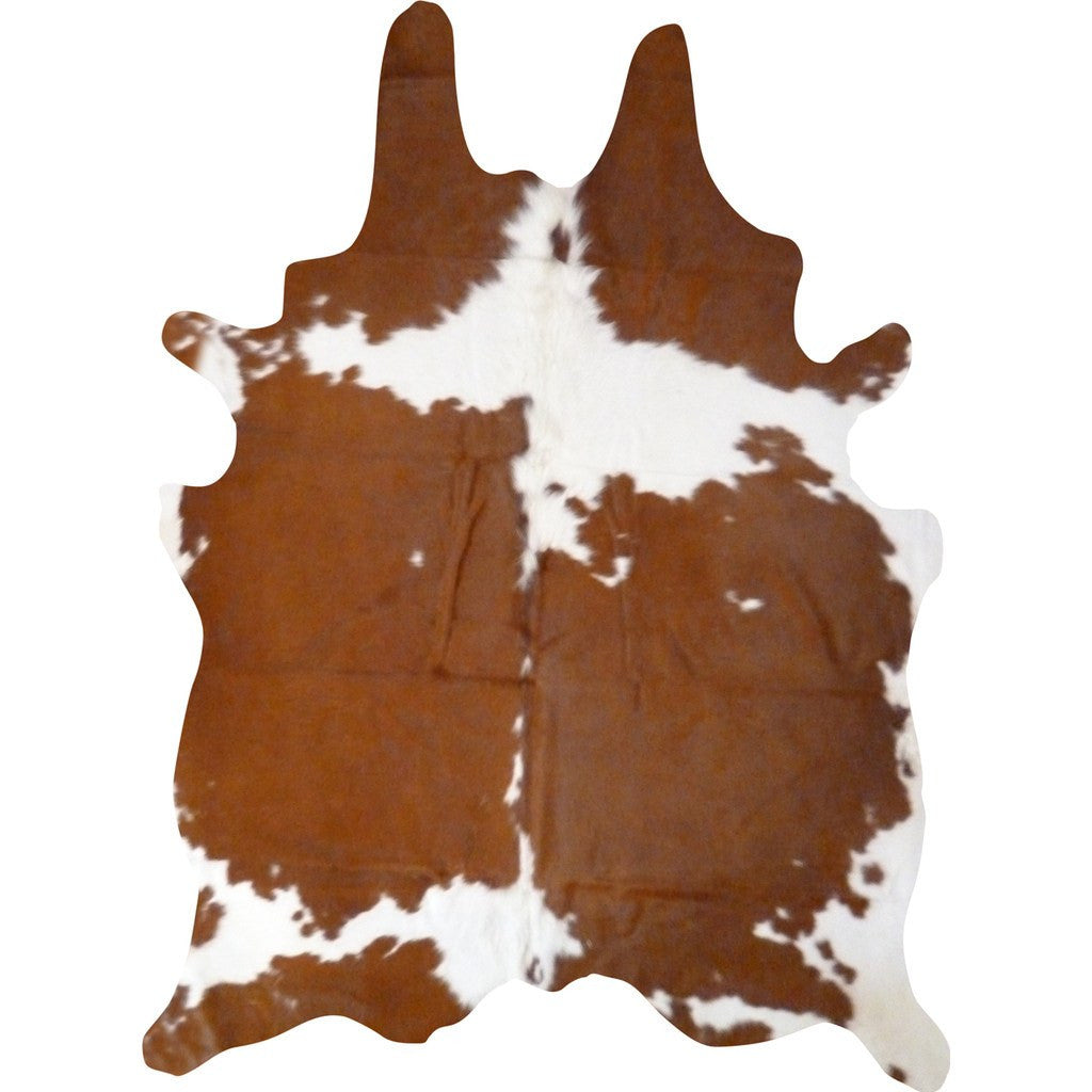 Decohides Cowhide Rug | Brown and White F196