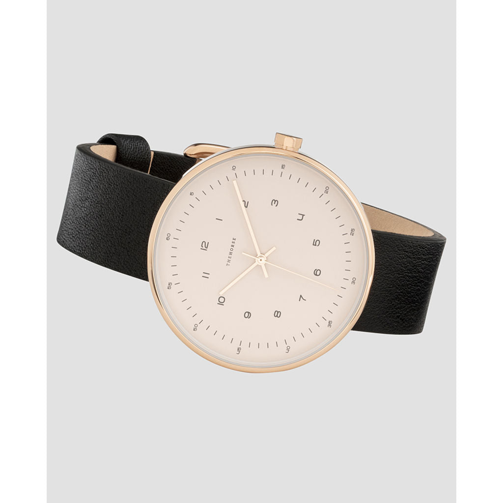 The Horse Minimal 40 mm Rose Gold Watch | Blush/Black