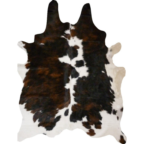 Decohides Cowhide Rug | Brindle and White F200