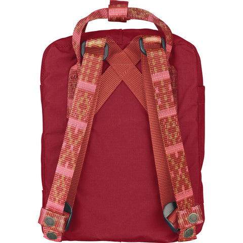 Fjallraven KŒnken Mini Backpack | Deep Red/Folk Pattern - F23561 325-903