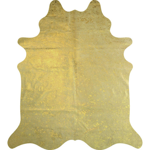 Decohides Cowhide Rug | Metallic Gold F432