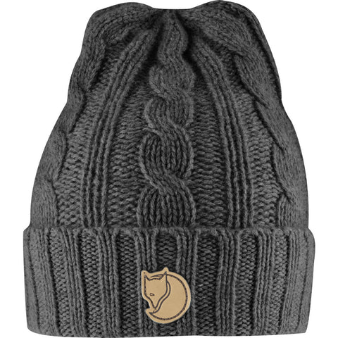 Fjallraven Braided Knit Hat | Dark Grey - F77377 30