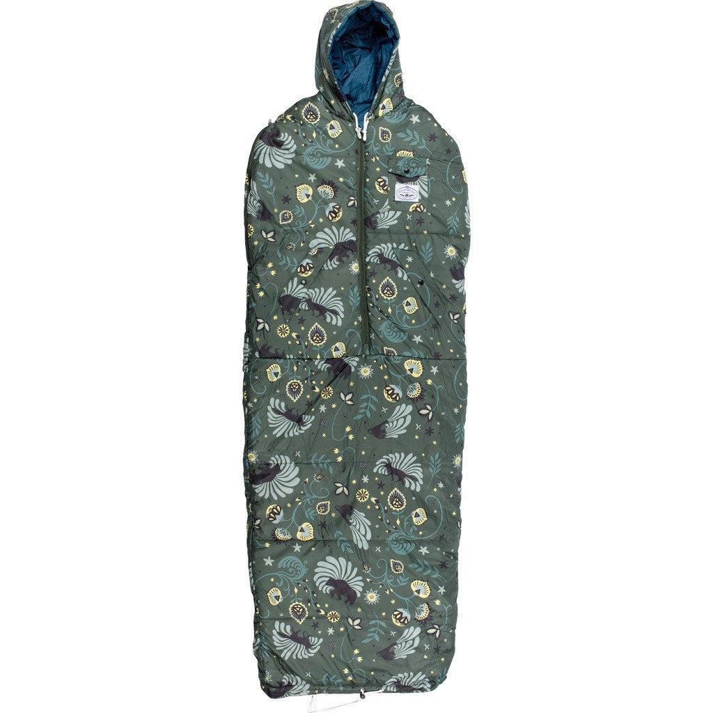 Poler Reversible Napsack Wearable Sleeping Bag | Olive LoriÕs Wildlife 634021-OLV SM / MD / LG / XL