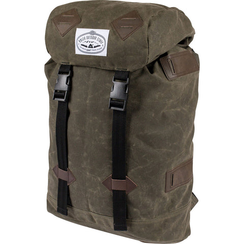 Poler Classic Rucksack Backpack | Waxed Burnt Olive 13100013