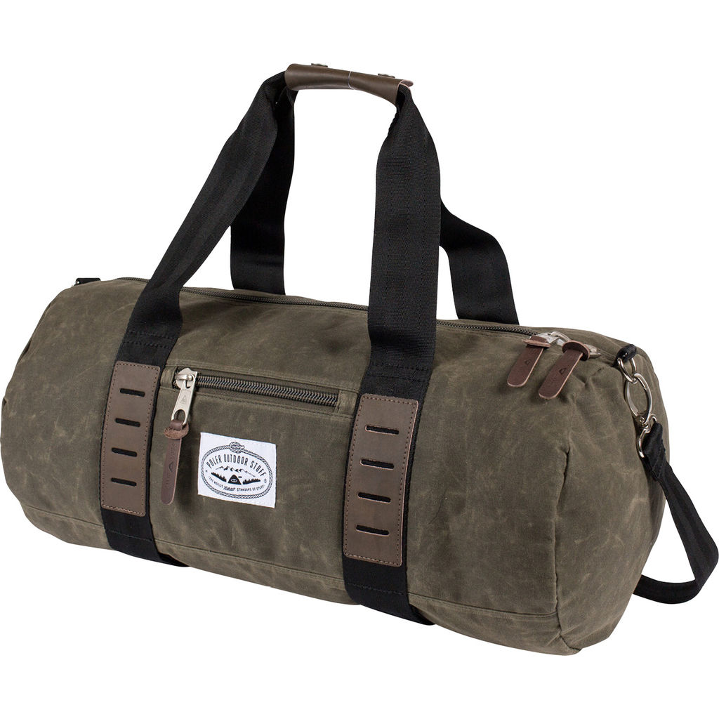 0d5459892500 Poler Classic Carry-On Duffel Bag in Waxed Burnt Olive - Sportique