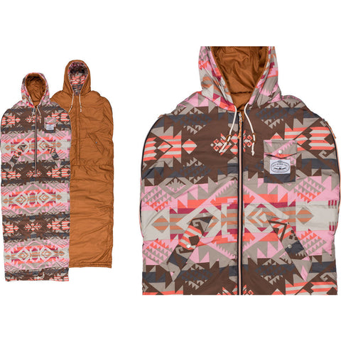 Poler x Pendleton Reversible Napsack Wearable Sleeping Bag | Misty Pink 43550001