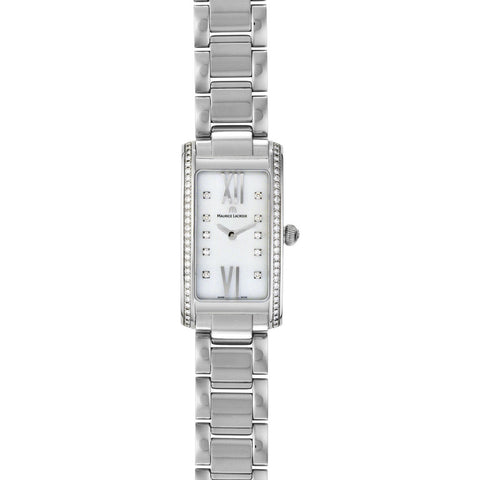 Maurice Lacroix Fiaba Square Watch | Diamond/Silver FA2164-SD532-170