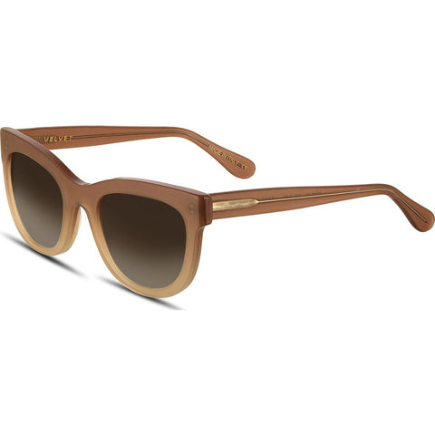 Velvet Eyewear Farrah Toastie Almond Sunglasses | Brown Fade V017TA01