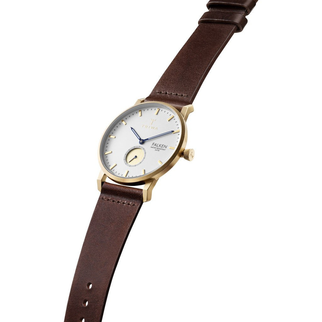 Triwa Snow Falken Watch | Dark Brown Classic FAST110CL010413