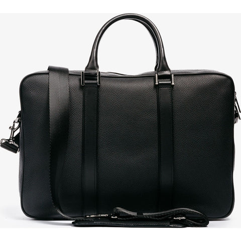 Hook & Albert Leather Structured Briefcase | Black FBRFLTH-BLK-OS