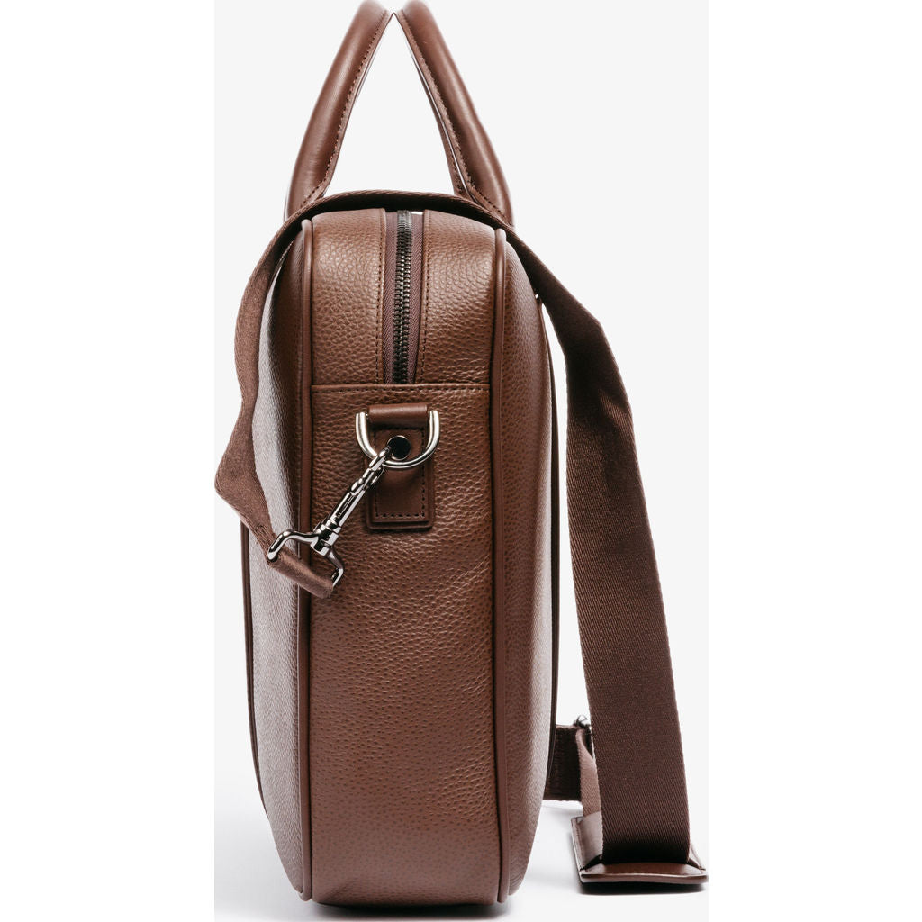 Hook & Albert Leather Structured Briefcase | Brown FBRFLTH-BRN-OS
