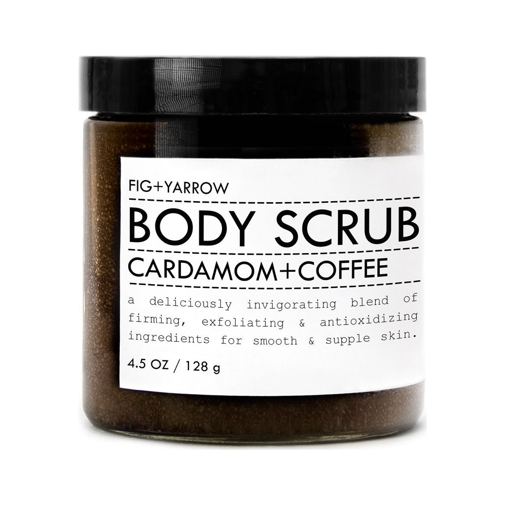 Fig+Yarrow Body Scrub | Cardamom+Coffee 4.5 oz Ccbs45