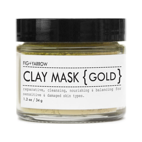 Fig+Yarrow Clay Mask | Gold 1.2 oz