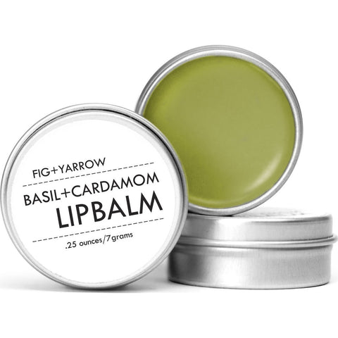 Fig + Yarrow Lip Balm | Basil+Cardamom .25 oz- BCLB25