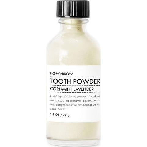 Fig + Yarrow Tooth Powder  | Cornmint+Lavender 2.5 oz- TP25 Ê