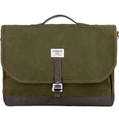 Sandqvist Finn Backpack | Waxed Olive SQA661 SQA661
