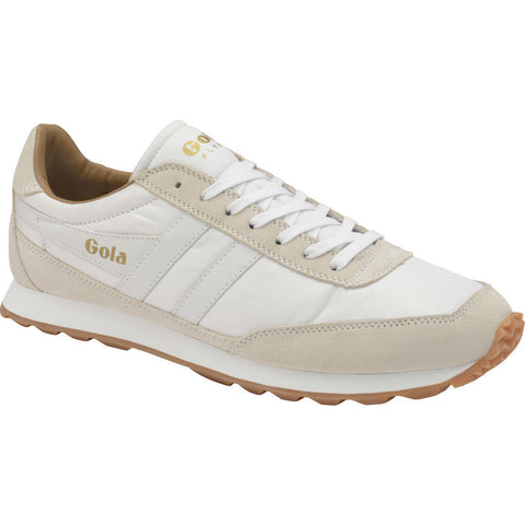Gola Men's Flyer Sneakers | White/Gum