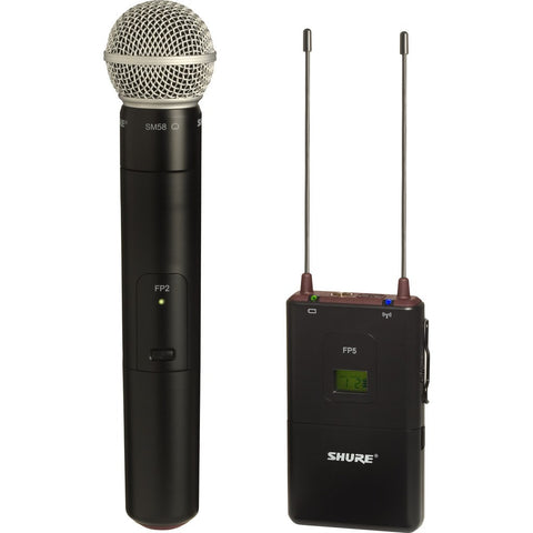 Shure FP25/SM58 Handheld Wireless System with SM58 Microphone/FP5 Portable Receiver