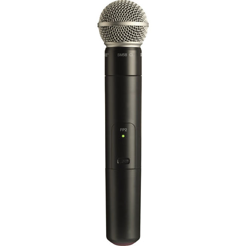 Shure FP2/SM58 Handheld Transmitter with SM58 Cardioid Microphone | Black