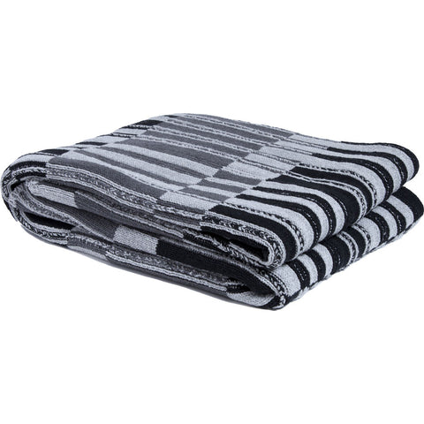 in2green Floating Stripe Throw | Black/Smoke/Aluminum BLFS3