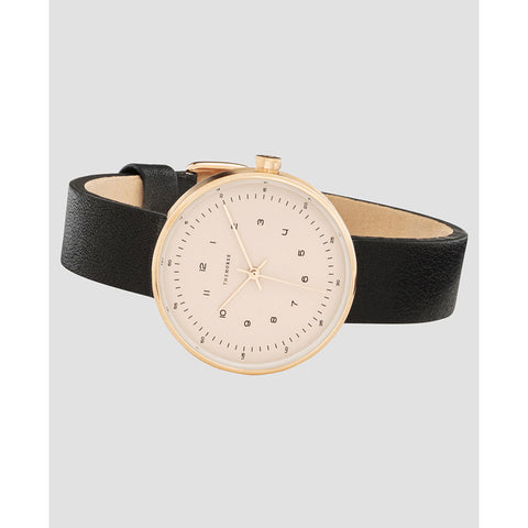 The Horse Minimal 34 mm Rose Gold Watch | Blush/Black
