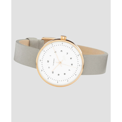 The Horse Minimal 34 mm Rose Gold Watch | White/Grey
