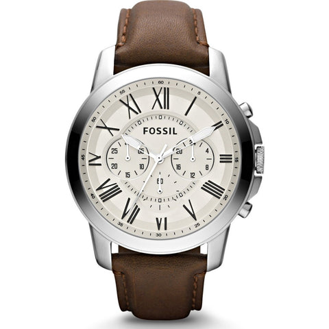 FOSSIL Grant Chronograph Watch | Leather FS4735