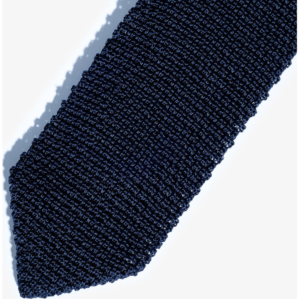 Hook & Albert Solid Silk Knit Tie | Navy FW14-KTSD-NVY-OS