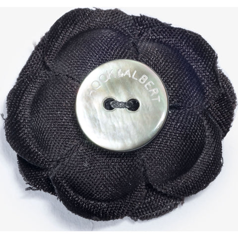 Hook & Albert Black Ash Small Lapel Flower | Black FW14-LBSS-BLK-OS