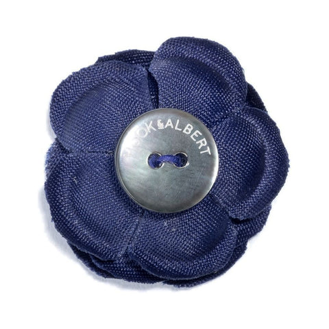 Hook & Albert Rain Small Lapel Flower | Blue FW14-LBSS-NVY-OS