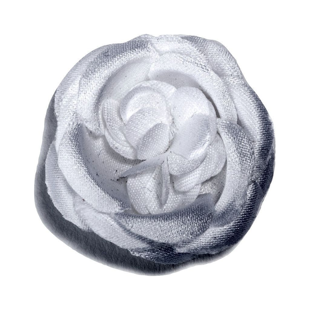 Hook & Albert Snow White Small Lapel Flower | White FW14-LBSS-WHT-OS