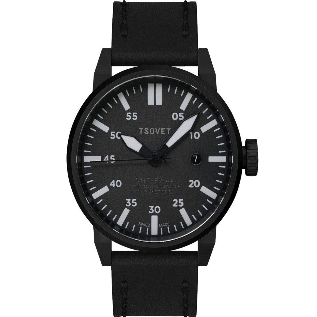 Tsovet SMT-FW44 Black & Grey Automatic Watch | Black FW331710-45A