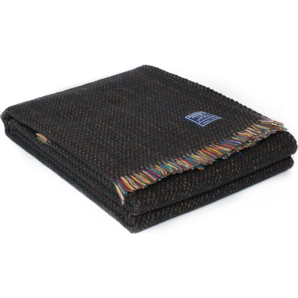 Faribault Northern Lights Wool Throw -Black BTEWBK1946