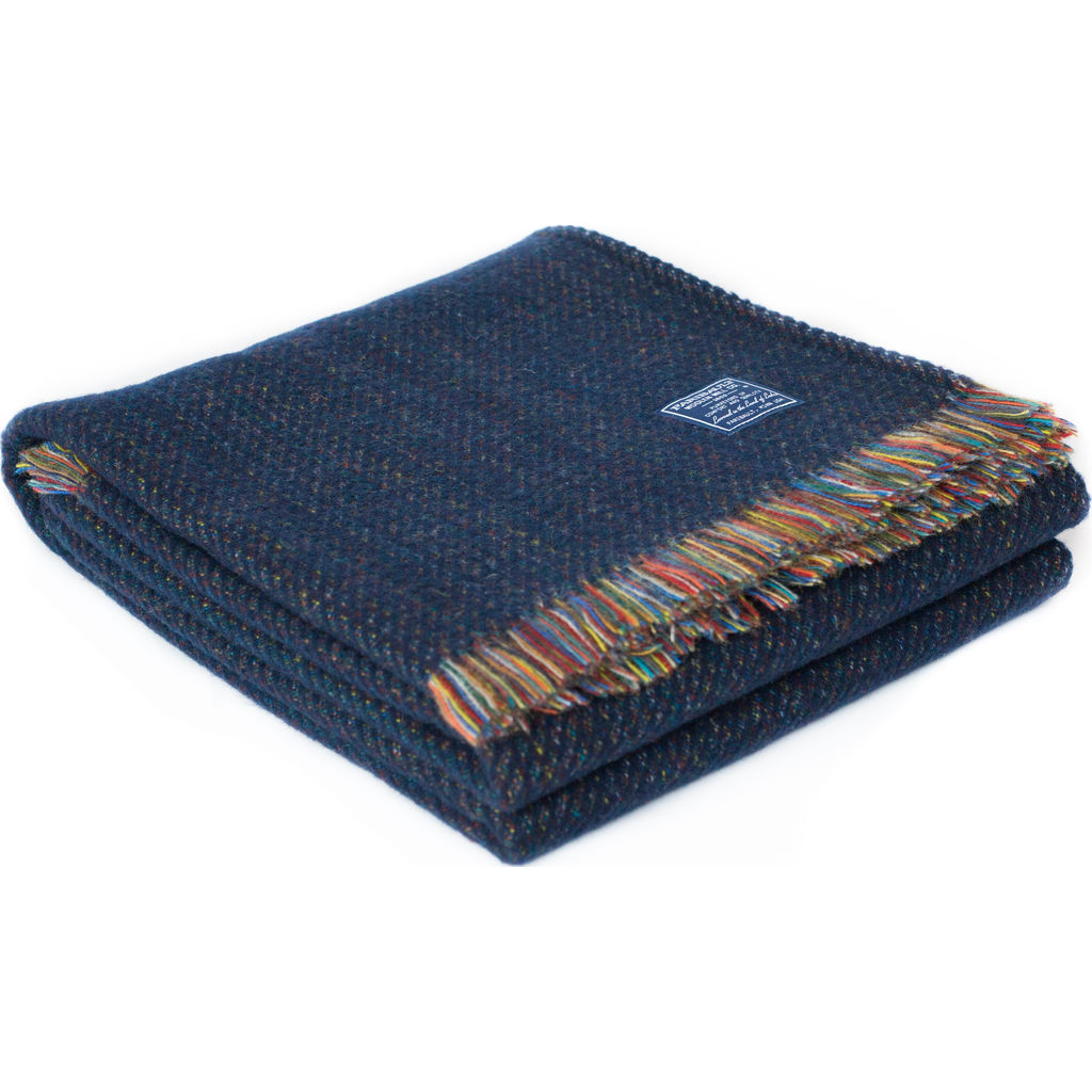 Faribault Northern Lights Wool Throw -Charcoal BTEWCH1878