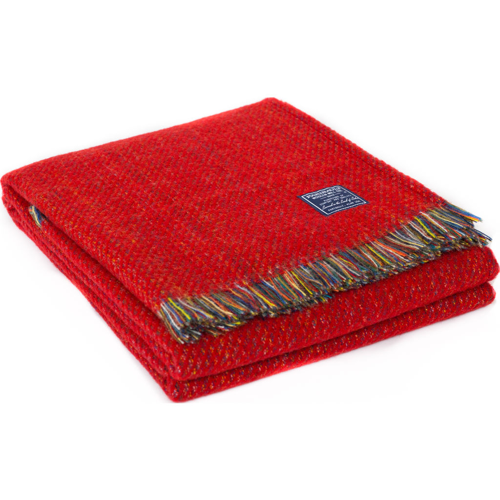 Faribault Northern Lights Wool Throw -Red BTEWRD1939