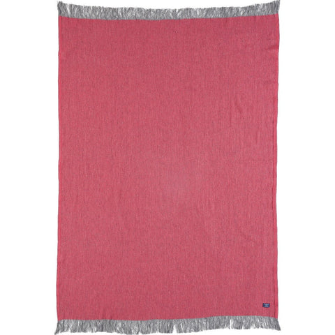 Faribault Ashby Twill Throw | Fuchsia BTATPK1542