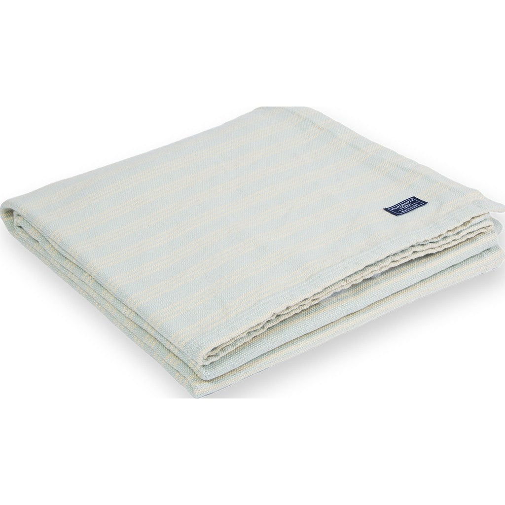 Faribault Cotton Beacon Throw | Stripe Seafoam BTBELB1259