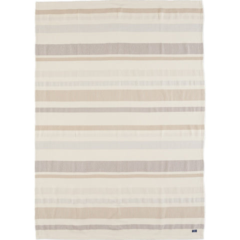 Faribault Cotton Kerrick Stripe Throw | Beige BTKSBG1327