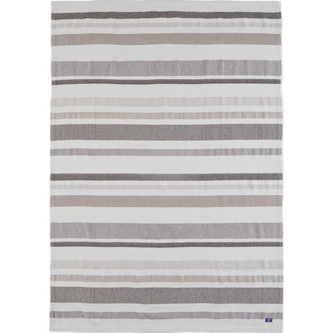 Faribault Cotton Kerrick Stripe Throw | Gray BTKSCH1341