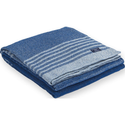 Faribault Eco Cotton Throw | Linear Stripe Blue BTLSBL1020