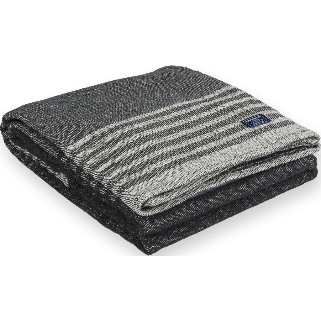 Faribault Eco Cotton Throw | Linear Stripe Gray BTLSGY1037