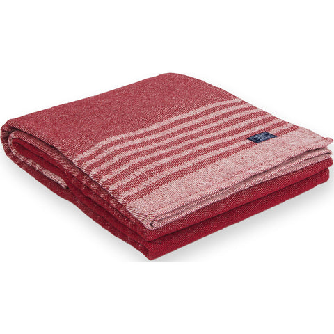 Faribault Eco-Woven Cotton Throw | Linear Stripe Red-BTLSRD1051