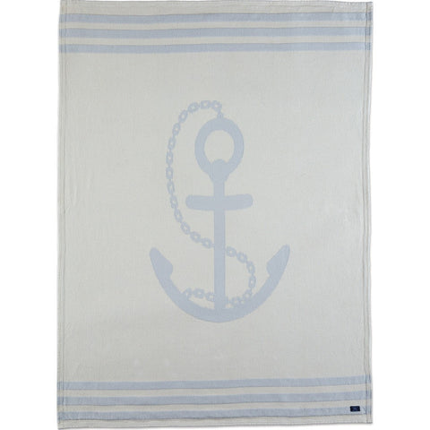 Faribault Cotton Throw | Nautical Anchor BTNAGY1280