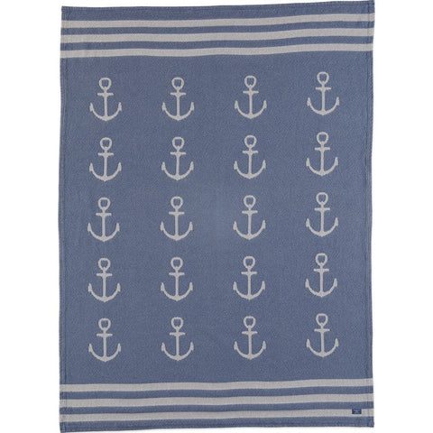 Faribault Cotton Throw | Nautical Clearwater BTNANV1303