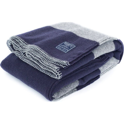 Faribault Tailgating Wool Throw | Purple/Grey -Silver Edging BTRSNVX090